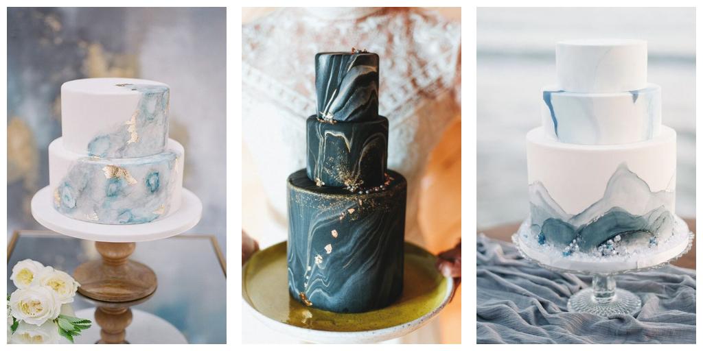 huwelijks taarten in moody kleuren, moody cake