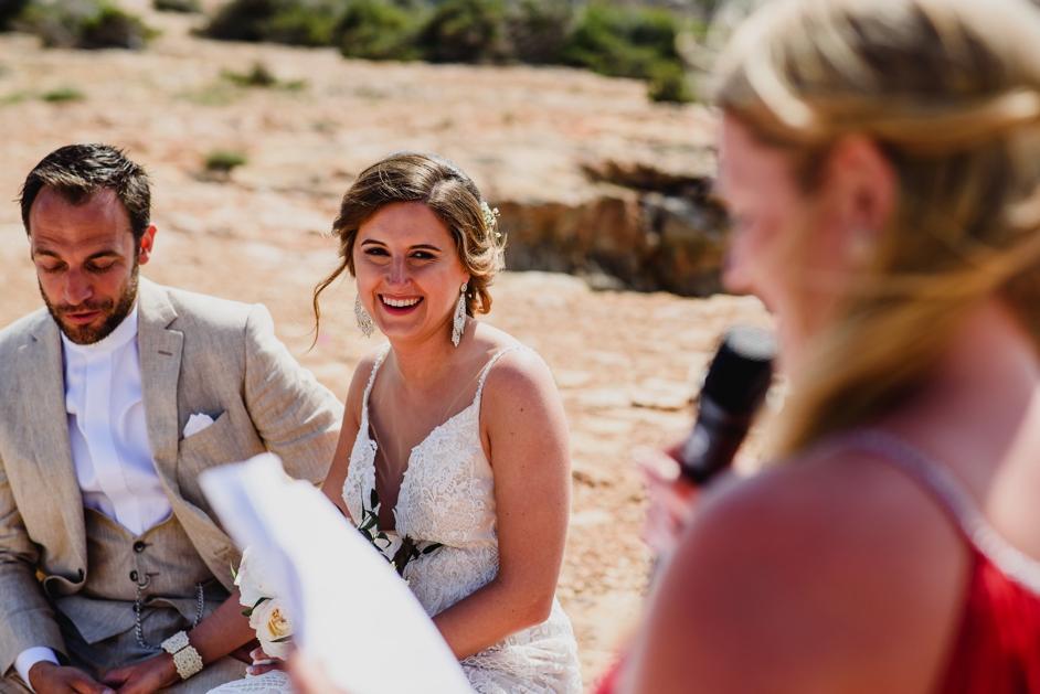 bruid tijdens storytelling
