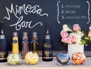 mimosa bar cava en fruitsap huwelijk of event