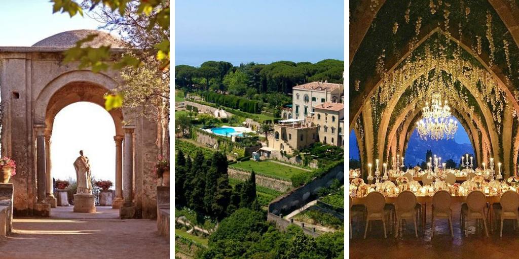 Villa Cimbrone trouwen in italië