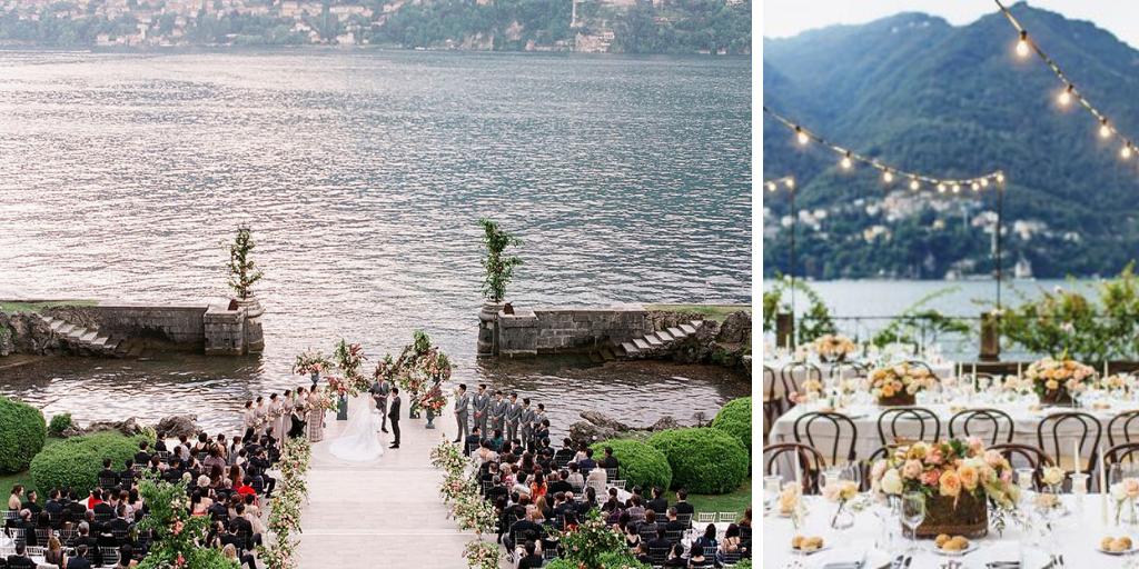 huwelijk aan lake como in italiië
