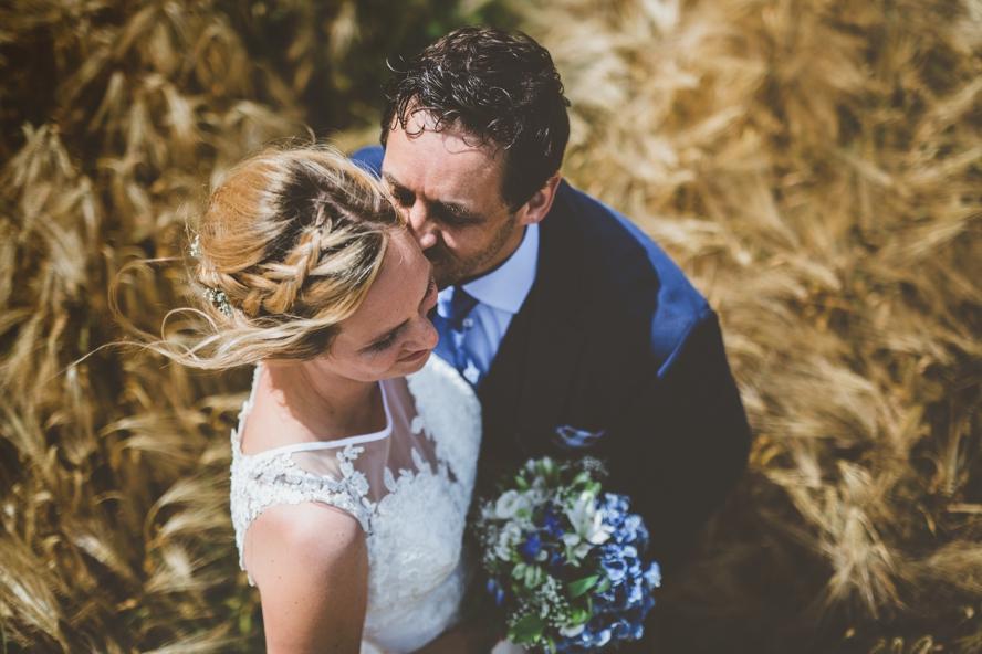 Trouwfoto van bruid en bruidegom