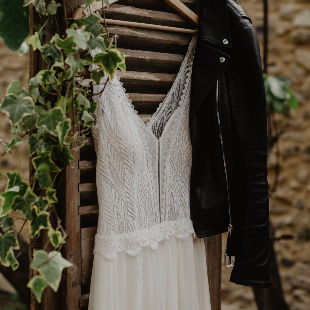 Trouwfeest in frankrijk met bruidsjurk