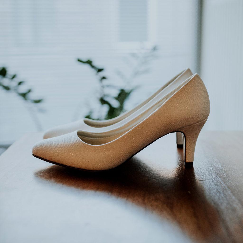 Schoenen met hak bruid